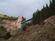Colorado Arched Bridge. Arched Bridge in Colorado Mountains Royalty Free Stock Photos