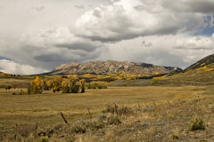 Colorado Autumn pasture and mountains Stock Photo