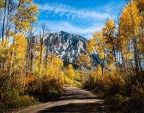 Colorado Autumn Scenic Beauty. Autumn colors create a unique scenic beauty in the Rocky Mountains of Colorado Royalty Free Stock Images