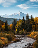 Colorado Autumn Scenic Beauty. Autumn colors create a unique scenic beauty in the Rocky Mountains of Colorado stock photography