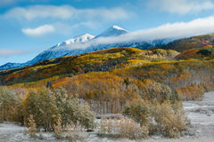 Colorado Autumn Scenic Beauty. Autumn colors create a unique scenic beauty in the Rocky Mountains of Colorado Royalty Free Stock Photo