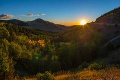 Colorado Autumn Sunrise Stock Foto's