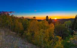 Colorado Autumn Sunrise Royalty-vrije Stock Foto