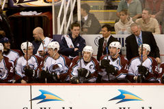 The Colorado Avalanche Bench Stock Image