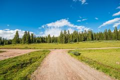 Colorado Backcountry Road. Colorado Backcountry Gravel Roads. Summer Colorado Outback Destination royalty free stock photography