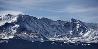 Colorado berg i snö Arkivfoto