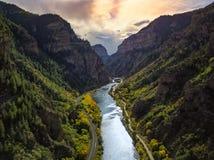 Colorado berg och friver Royaltyfria Bilder