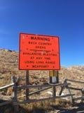 Colorado berg Ski Warning Royaltyfria Foton
