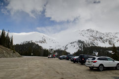 Colorado berg som täckas med snö Royaltyfri Fotografi