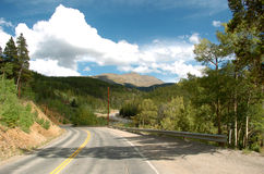 colorado bergväg Arkivfoton