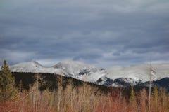 Colorado bergvinter arkivfoton