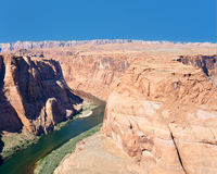 colorado blisko czerwonej rzeki skał Zdjęcie Royalty Free