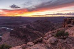 Colorado Canyonlands Viewpoint Sunset Stock Photo