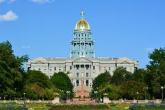 Colorado Capitol Building. The Colorado Statehouse on a sunny day with clear skies Stock Photography