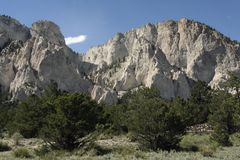 Colorado Chalk Cliffs Royalty Free Stock Photography