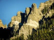 Colorado Cimarron Valley Bluff. Bluff in the Cimarron Valley of Colorado stock photo