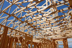 Colorado construction. Construction of a new custom home in Colorado Stock Image