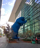 Colorado Convention Center in Denver, Colorado. Denver Blue Bear at Colorado Convention Center in Denver, Colorado Royalty Free Stock Photos