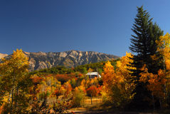 Colorado Country. Beautiful fall colors and mountains in the country of Colorado stock image
