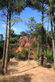 Colorado de Rustrel - Provence Fotografia de Stock Royalty Free