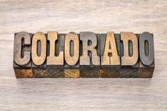 Colorado in der Weinleseholzart Lizenzfreies Stockfoto