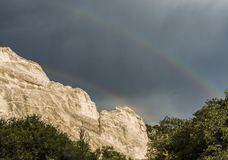 Colorado Double Rainbow at Garden of the Gods Royalty Free Stock Images