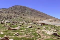 Colorado 14er, pikar når en höjdpunkt, Front Range, Colorado Arkivbilder