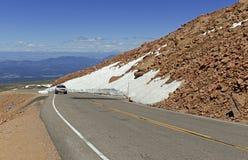 Colorado 14er, pikar når en höjdpunkt, Front Range, Colorado Royaltyfri Bild