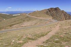 Colorado 14er, pikar når en höjdpunkt, Front Range, Colorado Arkivfoton