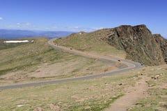Colorado 14er, Pikes Peak, Front Range, Colorado. Pikes Peak, Front Range, Colorado and the famous Pikes Peak Road Stock Image
