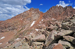 Colorado 14er, Sunlight Peak, San Juan Range, Rocky Mountains in Colorado Royalty Free Stock Photo
