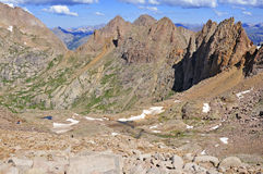 Colorado 14er, supporto Eolus, San Juan Range, Rocky Mountains in Colorado Fotografia Stock Libera da Diritti