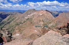 Colorado 14er, zet Eolus, San Juan Range, Rocky Mountains in Colorado op Stock Fotografie