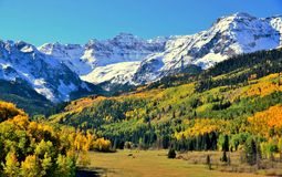 Colorado in the Fall. Colorado mountains in the fall Royalty Free Stock Images