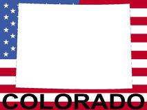 Colorado with flag Royalty Free Stock Photo