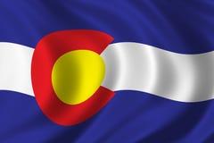 colorado flagę Obraz Royalty Free