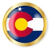 Colorado Flag Button Stock Image