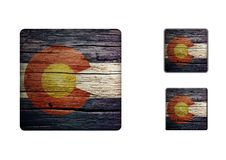 Colorado flag Buttons Royalty Free Stock Images