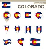 Colorado Flag Collection. 12 versions royalty free illustration