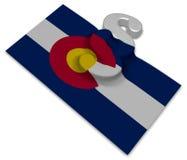 Colorado flag and paragraph symbol Royalty Free Stock Image