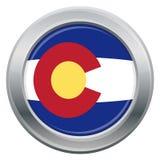 Colorado Flag Silver Icon Stock Images