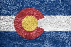 Colorado flag texture stock illustration
