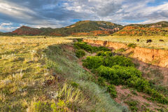 Colorado foothills at sunset Stock Photography