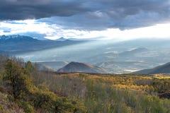 Colorado fresco Autumn Evening fotografía de archivo