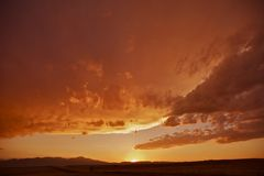 Colorado Frontrange Sunset Royalty Free Stock Photo
