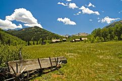 Colorado Ghost Town - 2. Abandoned mining town of Ashcroft, Colorado at high noon Royalty Free Stock Image
