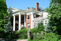 Colorado Governor's Mansion. An exterior view of the Governor's mansion, located in downtown Denver, Colorado, USA Stock Image