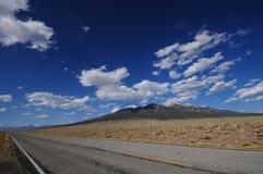Colorado Highway. Colorado Landscape. Landscape near Alamosa, Colorado, USA Stock Image