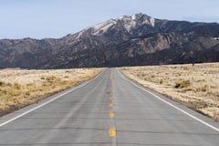 Colorado highway to the mountains Stock Photo