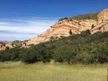 Colorado Hiking Trail. Beautiful view of a mountainside from a hiking trail in Colorado Stock Photography